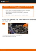 Wie Bremsklötze OPEL ASTRA tauschen und einstellen: PDF-Tutorial