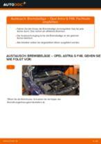 Wie Bremshalter hinten links rechts beim Nissan X-Trail T32 wechseln - Handbuch online