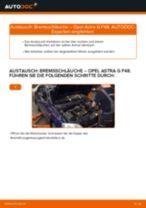 Austauschen von Bremsschlauch Anweisung PDF für OPEL ASTRA