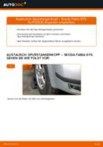 Wie Zubehörsatz, Scheibenbremsbelag SKODA FABIA austauschen und anpassen: PDF-Anweisung