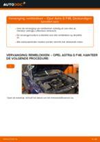 Montage Achteraslager OPEL ASTRA G Hatchback (F48_, F08_) - stap-voor-stap handleidingen
