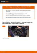 Hoe veerpootlager vooraan vervangen bij een Opel Astra G F48 – vervangingshandleiding