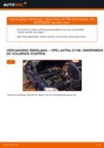 Hoe remslang vooraan vervangen bij een Opel Astra G F48 – vervangingshandleiding