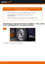 Hoe stabilisatorstang rubbers vooraan vervangen bij een Opel Astra G F48 – vervangingshandleiding