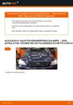 Hauptscheinwerferglühlampe selber wechseln: Opel Astra G F48 - Austauschanleitung