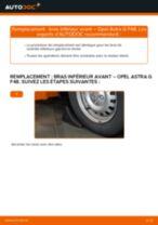 Comment changer Bras transversal arrière et avant OPEL ASTRA G Hatchback (F48_, F08_) - manuel en ligne