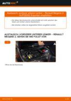 PDF Wechsel Anleitung: Achslenker RENAULT MEGANE II Stufenheck (LM0/1_) hinten und vorne