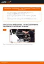 Remblokken veranderen VW TRANSPORTER: werkplaatshandboek