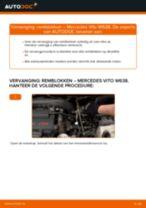Remblokken veranderen MERCEDES-BENZ VITO: werkplaatshandboek