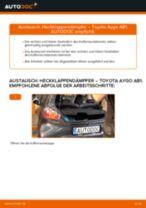 TOYOTA AYGO (WNB1_, KGB1_) Bremsbacken für Trommelbremse: Online-Handbuch zum Selbstwechsel