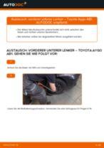 Schritt-für-Schritt-PDF-Tutorial zum Lambdasonde-Austausch beim TOYOTA AYGO (WNB1_, KGB1_)