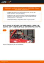 Wie BMW E46 Cabrio vorderer unterer Lenker wechseln - Schritt für Schritt Anleitung