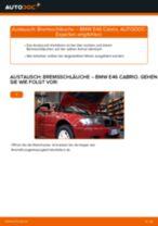 BMW 3 Convertible (E46) Bremstrommel: Online-Anweisung zum selbstständigen Ersetzen