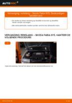 SKODA FABIA achter rechts Remslang vervangen: online instructies