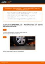 Bremssteine Low-Metallic auswechseln: Online-Handbuch für TOYOTA AYGO