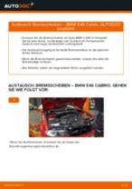 PDF Wechsel Tutorial: Bremsscheibe BMW 3 Cabrio (E46) hinten und vorne