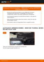 BMW 3 Touring (E46) Bremsscheiben hinten und vorne auswechseln: Tutorial pdf