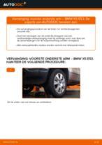 Hoe Draagarm wielophanging vervangen en installeren BMW X5: pdf tutorial