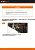 Ersetzen von Scheibenbremsbeläge MERCEDES-BENZ VITO: PDF kostenlos