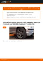 Hoe stabilisatorstang rubbers vooraan vervangen bij een BMW E46 touring – Leidraad voor bij het vervangen