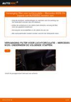 Hoe filter voor luchtcirculatie vervangen bij een Mercedes W210 – Leidraad voor bij het vervangen