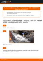 TOYOTA Axialgelenk Spurstange selber wechseln - Online-Anweisung PDF