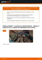 Changement Coupelle de suspension arrière et avant RENAULT KANGOO : tutoriel en ligne