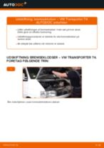 Trin-for-trin PDF-tutorial om VW Sharan 1 Bremseklodser skift