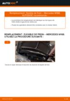 Manuel en ligne pour changer vous-même de plaquette de frein sur MERCEDES-BENZ A-CLASS (W168)