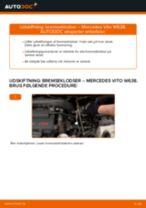 Hvordan skifter man og justere Bremseklods MERCEDES-BENZ VITO: pdf manual