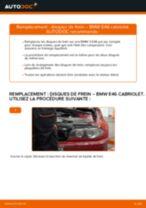 Comment changer : disques de frein arrière sur BMW E46 cabriolet - Guide de remplacement