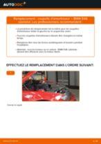 Comment changer : coupelle d'amortisseur avant sur BMW E46 cabriolet - Guide de remplacement