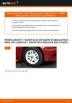 Comment changer : silent bloc de barre stabilisatrice avant sur BMW E46 cabriolet - Guide de remplacement