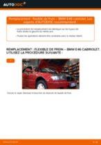 Comment changer : flexible de frein avant sur BMW E46 cabriolet - Guide de remplacement