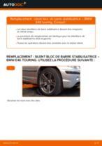 Comment changer : silent bloc de barre stabilisatrice avant sur BMW E46 touring - Guide de remplacement
