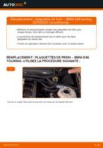 Montage Kit de plaquettes de frein BMW 3 Touring (E46) - tutoriel pas à pas