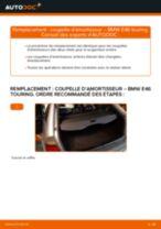 Comment changer : coupelle d'amortisseur arrière sur BMW E46 touring - Guide de remplacement