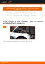 Comment changer : flexible de frein avant sur BMW E46 touring - Guide de remplacement