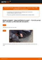 Comment changer Tambours De Frein arrière et avant TOYOTA AYGO (WNB1_, KGB1_) - manuel en ligne
