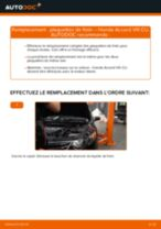 HONDA ACCORD VI Hatchback (CH) tutoriel de réparation et de maintenance