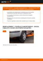 Comment changer : coupelle d'amortisseur arrière sur Skoda Fabia 6Y5 - Guide de remplacement