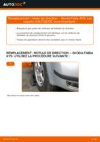 Comment changer : rotule de rirection sur Skoda Fabia 6Y5 - Guide de remplacement