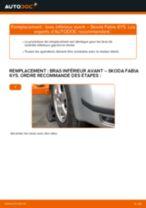 Skoda Fabia 3 tutoriel de réparation et de maintenance