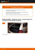 Comment changer : verin de hayon sur Skoda Fabia 6Y5 - Guide de remplacement