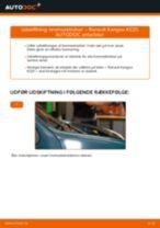 Online gratis instruktioner hvordan skifter man Bremseåg RENAULT KANGOO (KC0/1_)