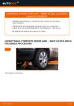 Skifte Bærearm BMW X5: værkstedshåndbog