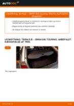 Udskift tårnleje bag - BMW E46 touring   Brugeranvisning