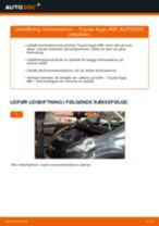 Automekaniker anbefalinger for udskiftning af TOYOTA Toyota Aygo ab1 1.4 HDi Viskerblade