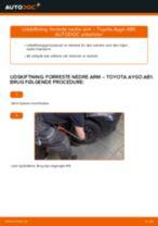 Automekaniker anbefalinger for udskiftning af TOYOTA Toyota Aygo ab1 1.4 HDi Fjeder