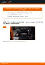 Hvornår skal Bremseslange skiftes SKODA FABIA Combi (6Y5): vejledning pdf